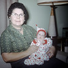 Linda Ludwig (1.5 mos) with Grandma Ludwig - December 1959