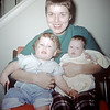 Sue Ludwig (14 mos.) & Linda Ludwig (2 mos) with Mom - January 1960