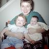 Sue Ludwig (14 mos.) & Linda Ludwig (2 mos) with Mom - January 1960