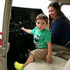 Sitting in the pilot's seat