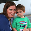 Luke and his mom, seeing us off after another great visit.