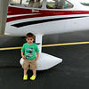 He really likes airplanes