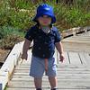 On the boardwalk at the Denver Botanical Gardens.