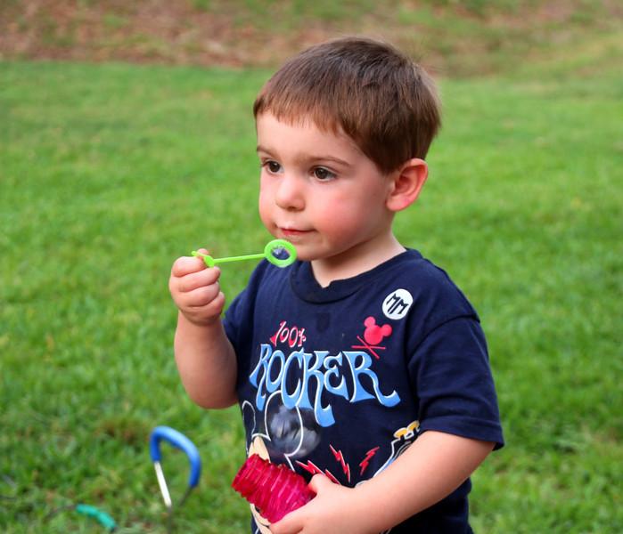 He loves bubbles