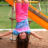 Cousin Naylee hanging upside down...No hands!