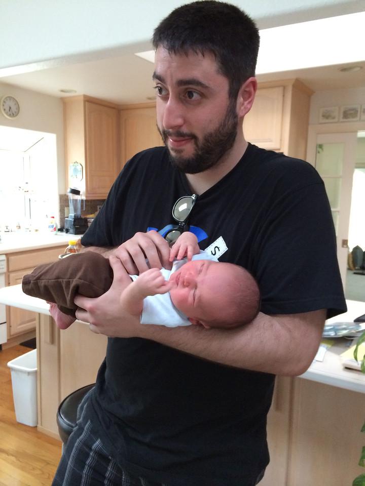 Cousin Dan holding Luke