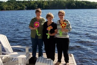 Mary Jane, Cheryl, Me - at the cottage we rented for a week