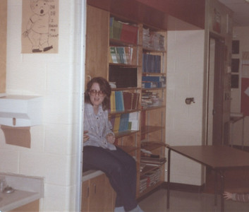 January 1981 - Assikinack Public School - visiting Dave while he cleans (he worked there as a part-time custodian for about six years)