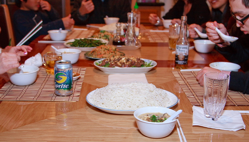 My birthday dinner. Photo by Ly.