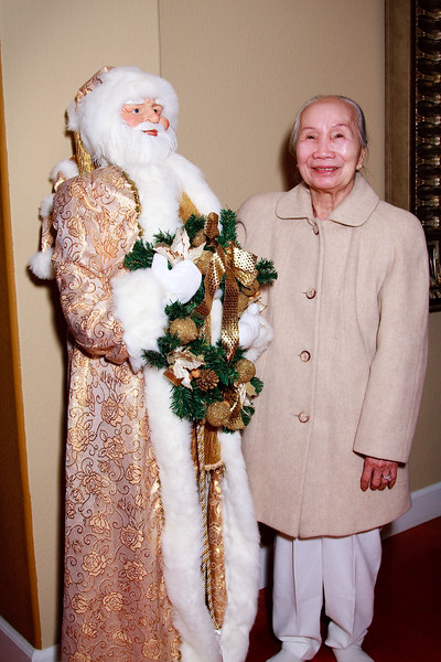 Dung's Mom with Santa Claus. Photo by Brian.
