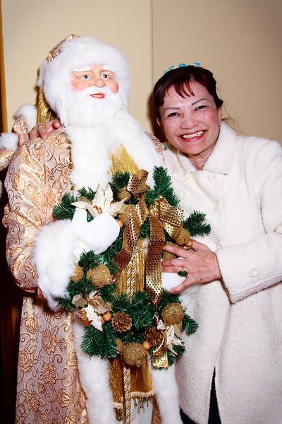 Phan with Santa Claus. Photo by Brian.