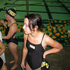 Lyuda during her swimming competition