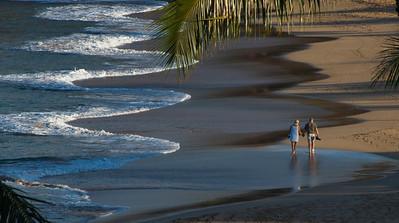 Lovers- Kaanapali Beach early stroll