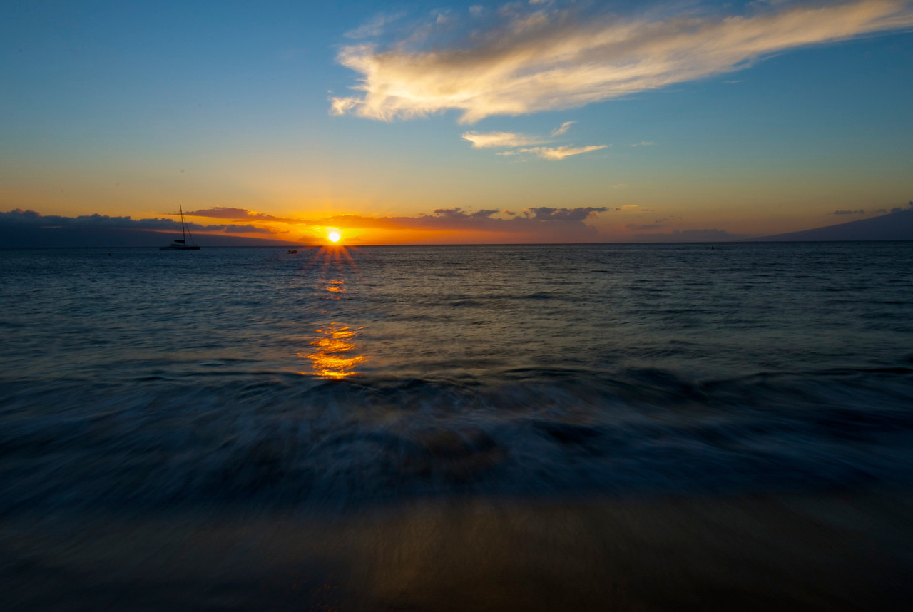 Kaanapali Sunset over Lanai