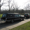 The hearse arrived.