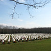 rows and rows.  This was the section where veterans of various Christian faiths were buried.