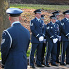 The Base Honor Guard, at parade rest prior to the ceremony commencing.