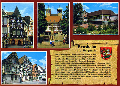 Bensheim post card