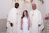 Mackenzie's Communion, with Fr. Martin & Fr. Bradley