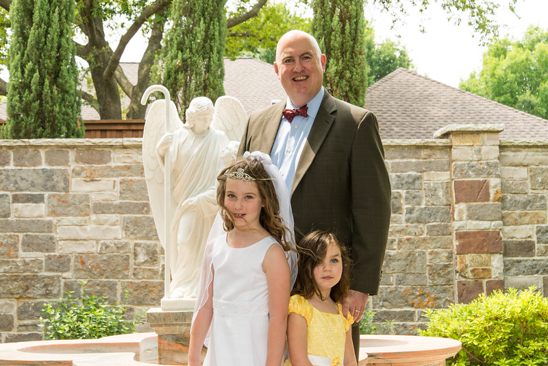 Mackenzie's Communion, Mackenzie, Keira and Richard Ryan