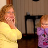 """Grand Mom and Maddie playing """"where's Krunk?"""""""