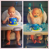 Parker's first bday, before and after - Carly posted on Facebook.