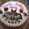 "A ""Power Puffs"" Special Birthday Cake"