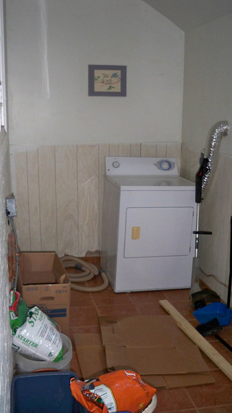 Mud room at the back of the house