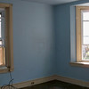 Madeleine's bedroom - Those are painted hardwood floors - ugh!