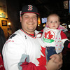 Dad and I dressed up at the pub for the Gold Medal game.....