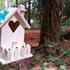 Maddy's fairy house hanging in the Fairy Forest...there are hundreds of these decorated houses among the trees.....