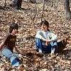 April 1978:  Ben, Judy and Henrietta in the woods.