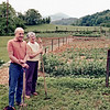 Probably late May 1975:  Bernie and Sylvia with the enormous vegetable garden they had developed after they retired.  At this point, they were spending four or five days a week at the farm when the weather permitted.  Periodic returns to Fairfax were required to check mail and to take care of laundry and other necessities.
