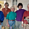 October 1992:  Lynne D, Penny, Chase B, Judy and Sarah S, after flower arranging class at home of Hardy Newton.