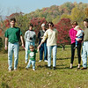 November 1999:  Ben, Judy, Noah, Sue B, Nancy, Christine B, Lucas B, Sam B -- walking to the pond.