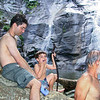 July 2002:  Ben, Noah and Dave at White Oak Canyon lower falls.