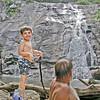 July 2002:  At the White Oak Canyon lower falls.