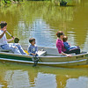 May 2002:  In the pond, in Jeb's boat.
