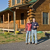 October 2006:  Bill and Gail W and their house, finally completed.