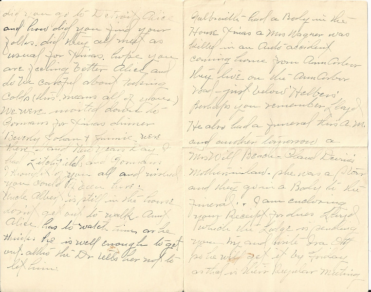 Mae letter dated 1 9 1940  page 2