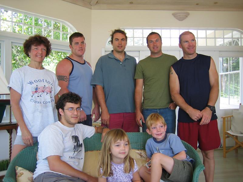Back, l-r: Carol, Nathan, James, Eric, Chris<br /> Seated: Gavin, Kelly, Spencer
