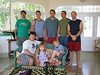 Back, l-r: Darius, Nathan, James, Eric, Chris<br /> Seated: Gavin, Kelly, Spencer