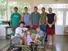 Back, l-r: Darius, Nathan, James, Eric, Chris<br /> Seated: Gavin, Kelly, Spencer