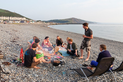 BBQ on the beach with friends, the night before the Graduation