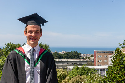 Malcolm's Graduation, Aberystwyth in background