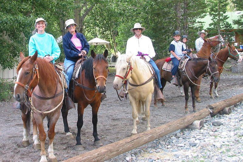 Horseback riding at McGee Creek