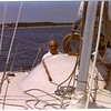Sailing with Fran Morey at the helm