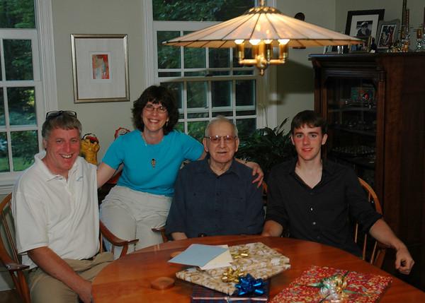 Steve, Sue, Fran & Travis at Fran's 90th birthday party