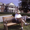Fran in front of Presidential Oaks, the assisted living facility that was his home in Concord for the last 6 years.