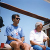 Chuck with Fran, Father's day 1992 on Fran Morey's boat
